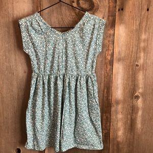 Gap Green Floral Babydoll Dress Large Size 10